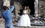 Syrian wedding couple