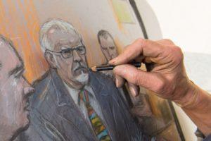 Rolf Harris court artist