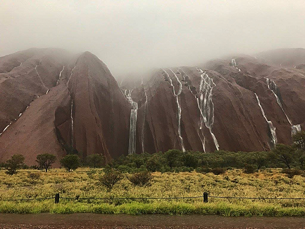 An abnormally large amount of rain on Uluru recently received international news coverage.