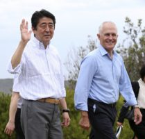 Japan's Shinzo Abe visits Australia
