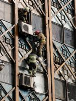 Tehran Iran building collapse fire