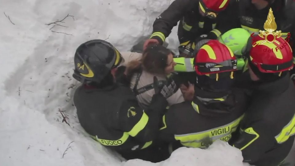 Survivors Found Trapped In Rubble Of Hotel Hit by Avalanche