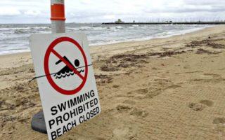 faecal pollution closes some melbourne beaches