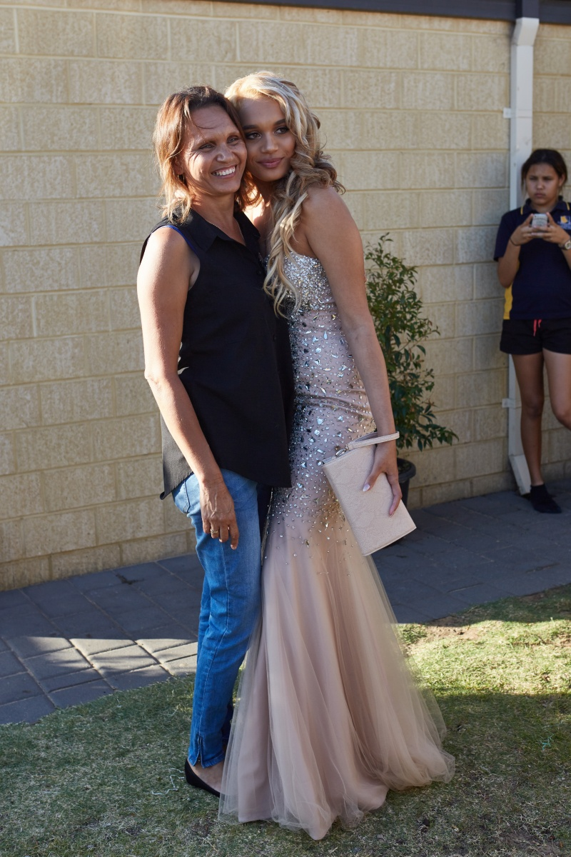 Aleisha poses for formal photos with her hard-working mum, Danielle. Photo: NITV