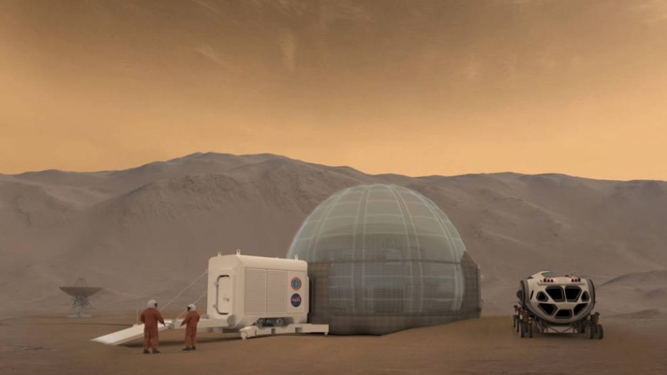 Artist rendering of the Mars Ice Home concept