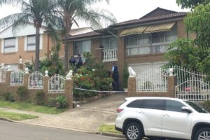 Police are at a home at Fairfield West where a two-year-old boy was pulled unresponsive from a fishpond.