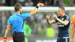 Besart Berisha red card