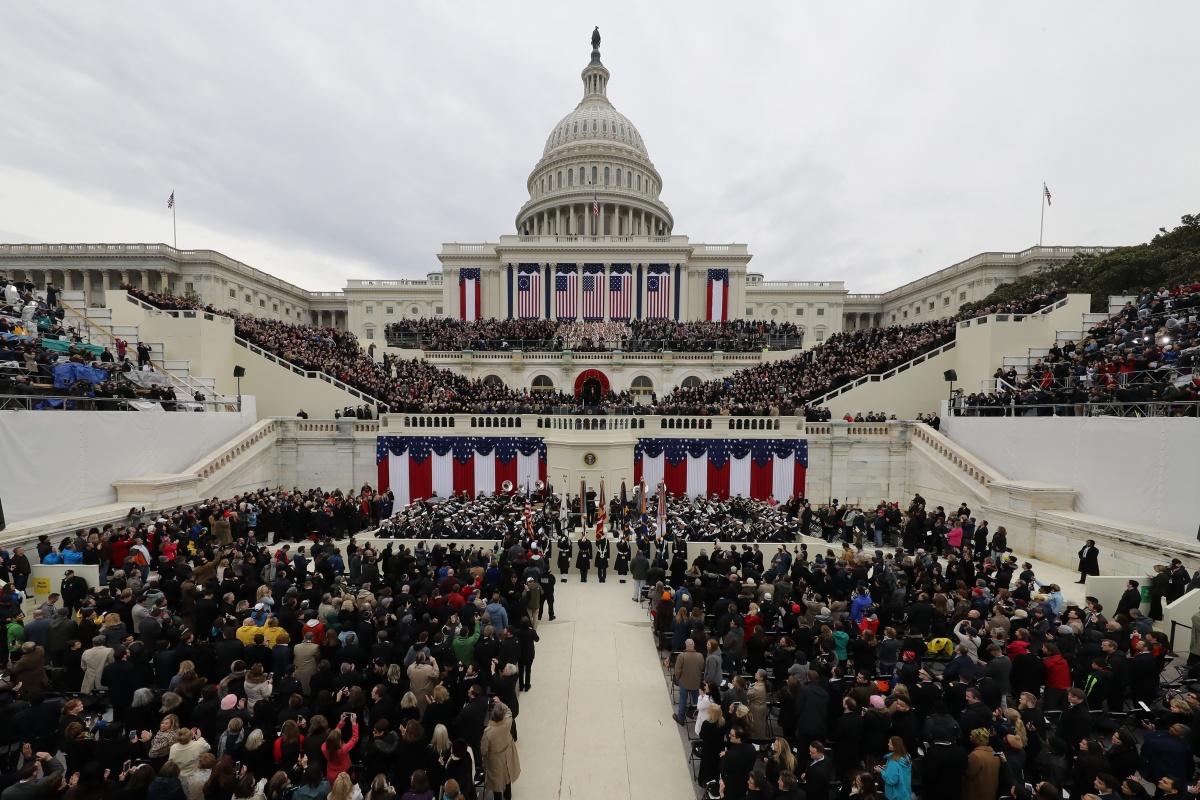 Trump inauguration ceremony