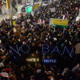 Muslim ban protests JFK airport New York