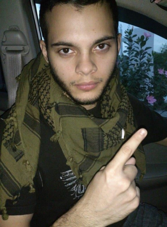 Esteban Santiago in a photo from his Twitter account.