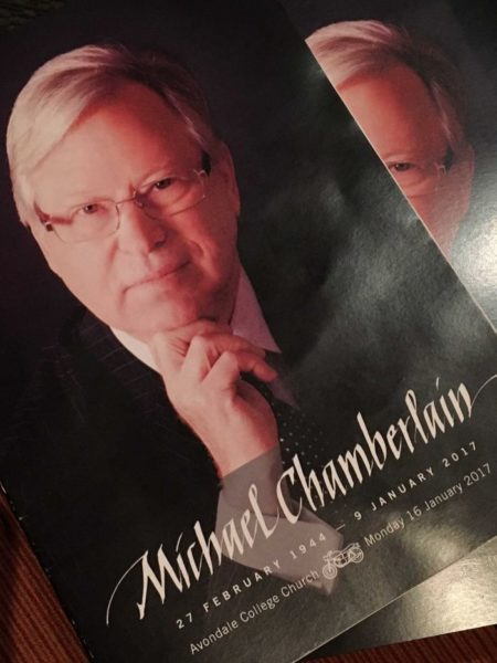 Michael Chamberlain funeral booklet