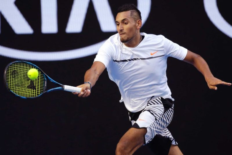 Kyrgios was dominant in the first set of his second-round match.