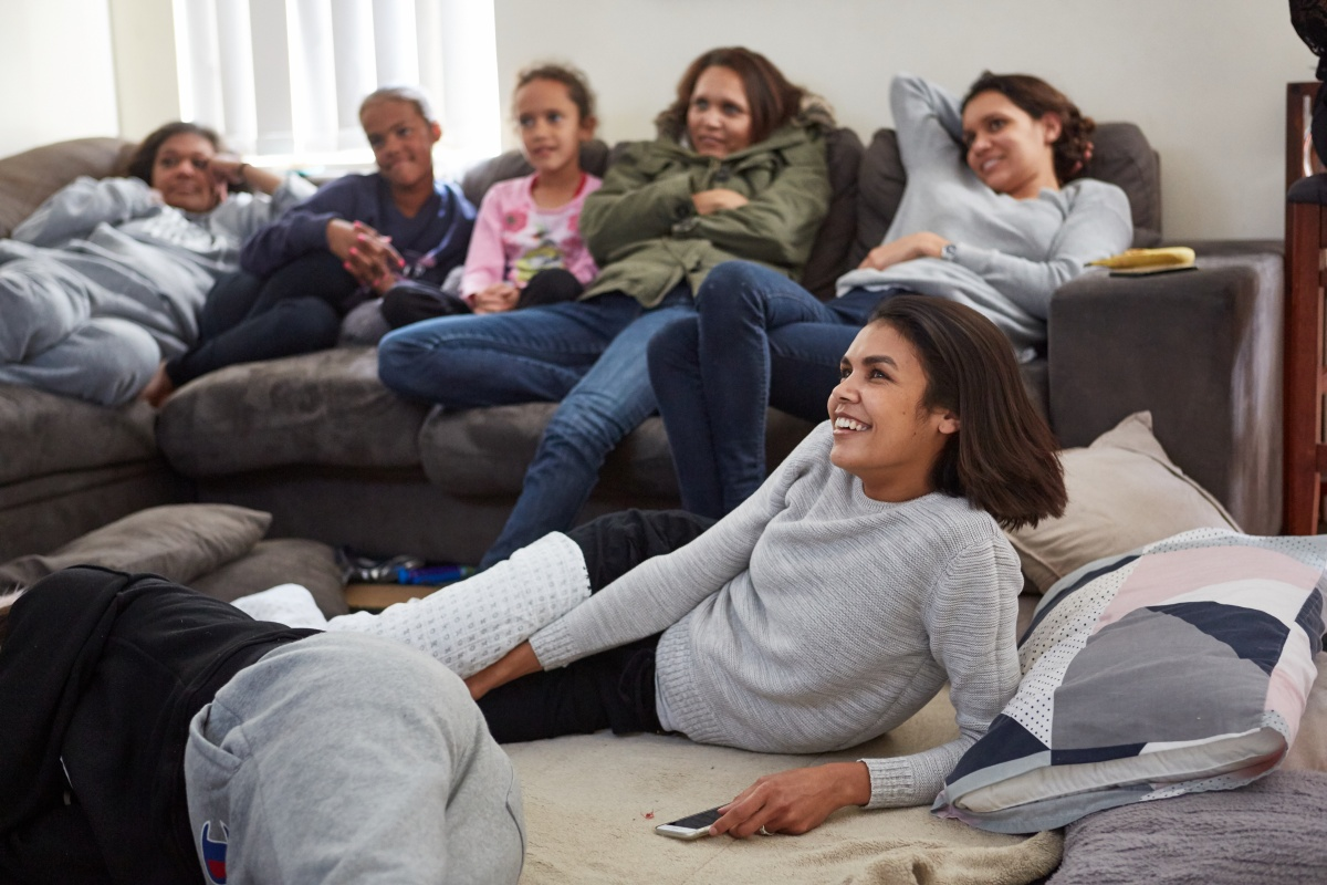 Nine daughters and one parent - life in the Rule family is hectic. Photo: NITV