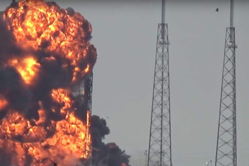 SpaceX Falcon 9 rocket exploded