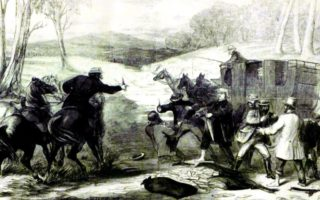 The Clarke Gang robs a stagecoach