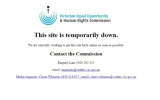 VEOHRC site hacked