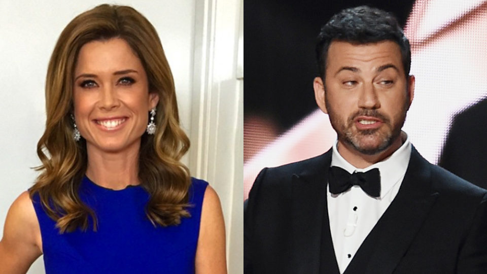 US late night host Jimmy Kimmel joked Amber Sherlock should be a panellist on 'The View'. Photo: Instagram/Getty