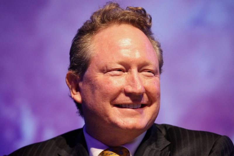 Andrew Forrest has driven hands-on philanthropy to support 250 community causes. Photo: AAP