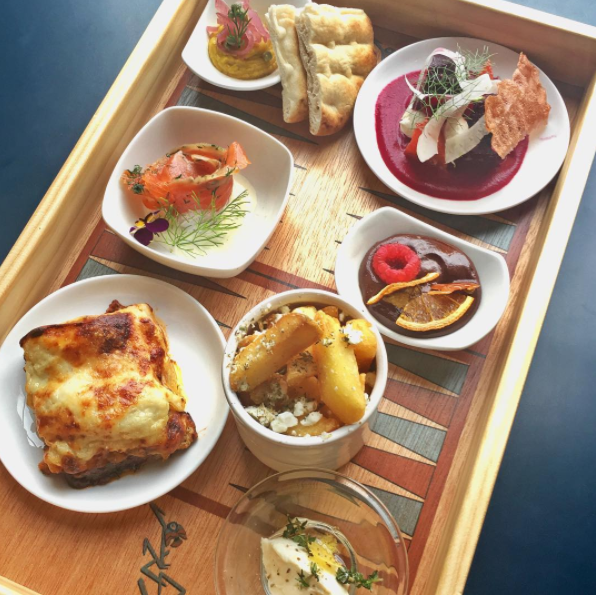 The Bend Over Box at Gazi has everything you need on one tray. Photo: Instagram/Gazi