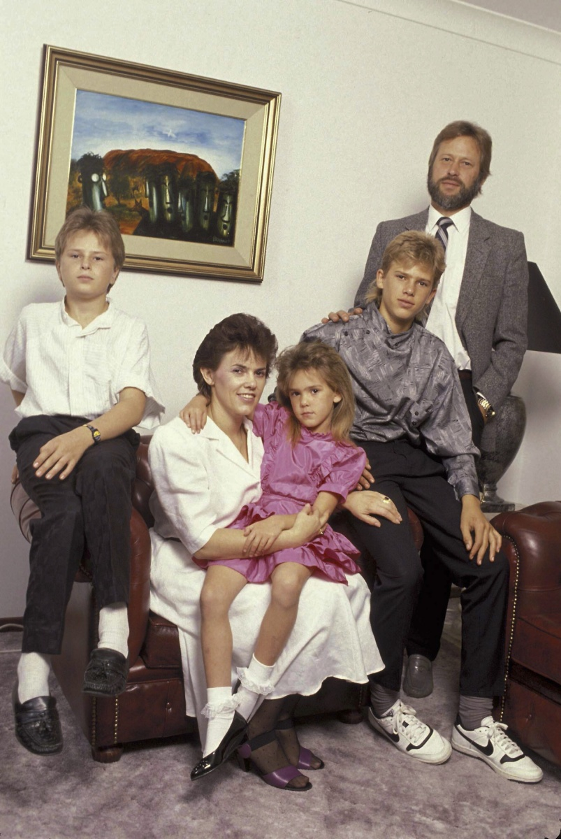 The Chamberlains with their sons Reagan and Aidan and their daugther Kahlia in 1989. Photo: Getty