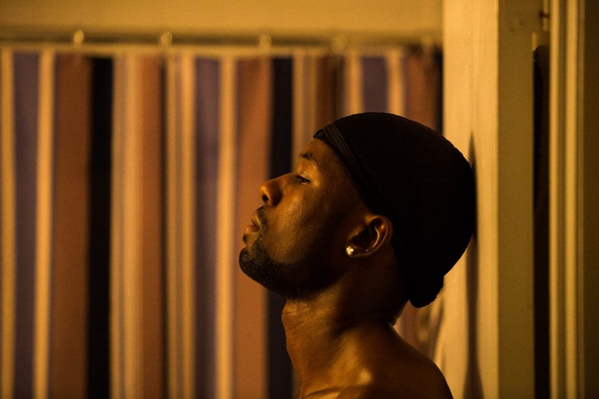 Trevante Rhodes plays 'Black', or Chiron as an adult - hardened by a life of insurmountable challenges.