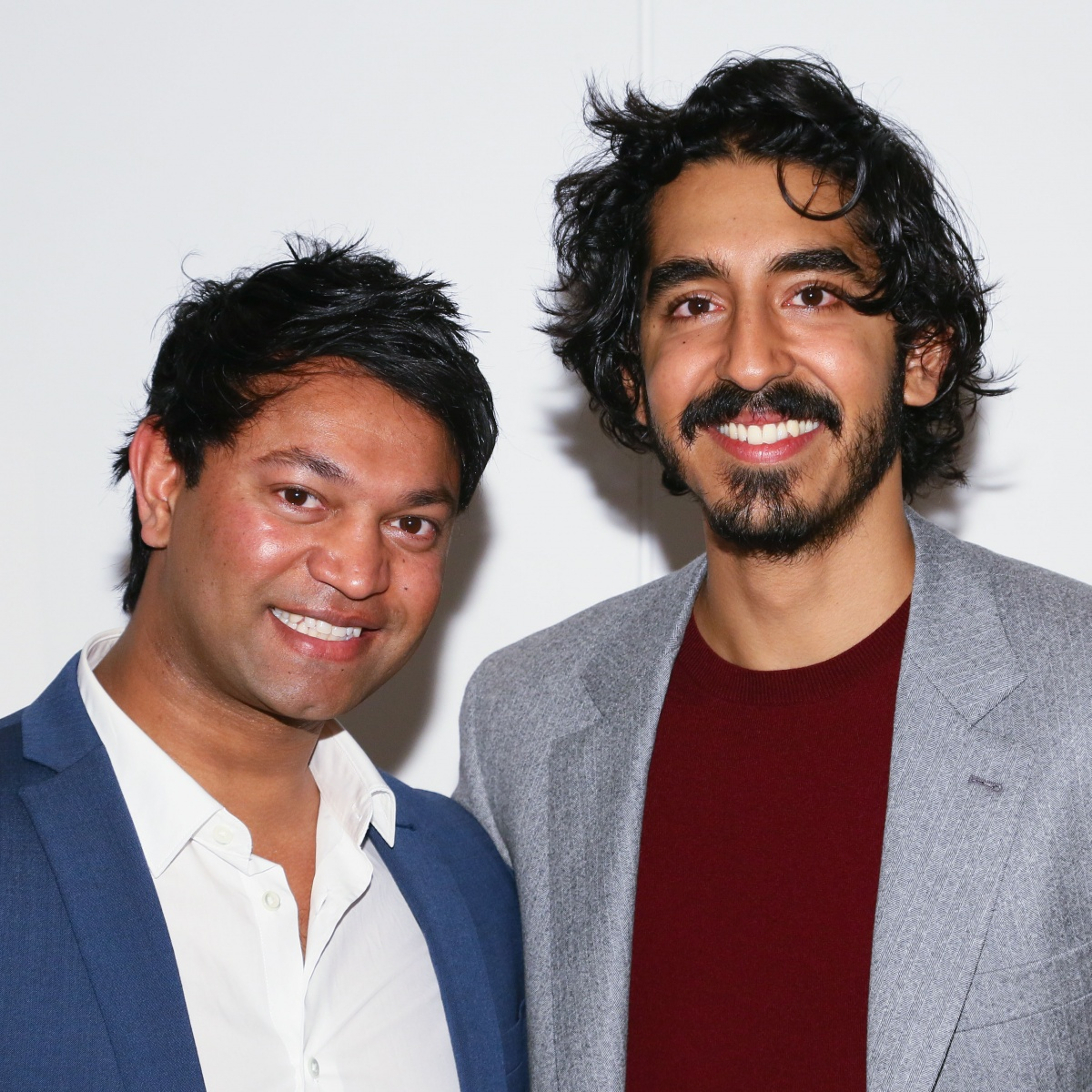Patel (right) with Saroo Brierley, who he plays on the big screen. Photo: Getty