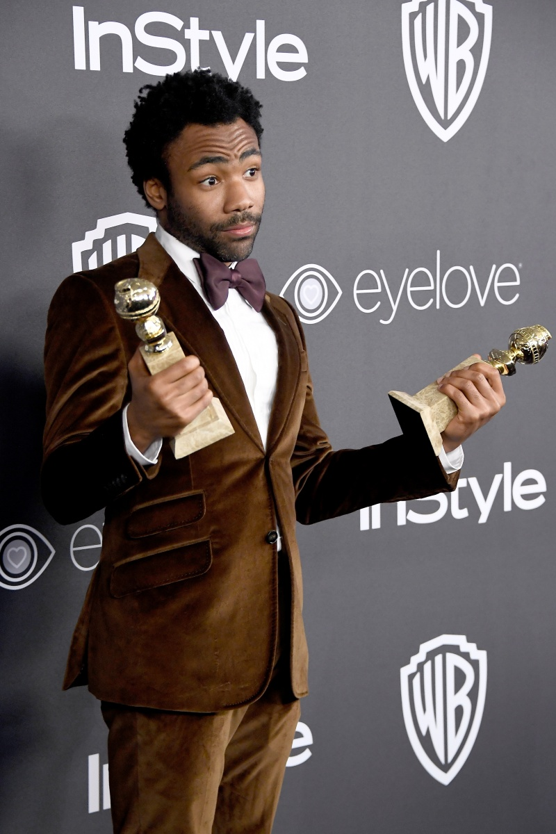 Donald Glover was television's big winner. Photo: Getty