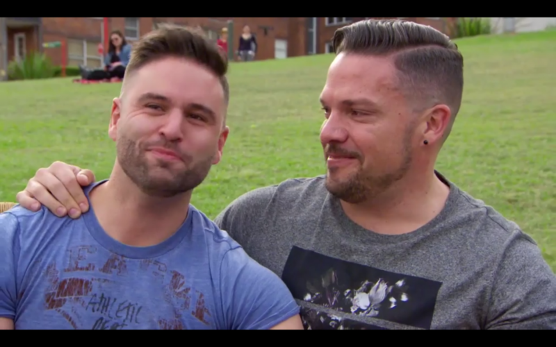 It was love at first sight for Grant and Chris.