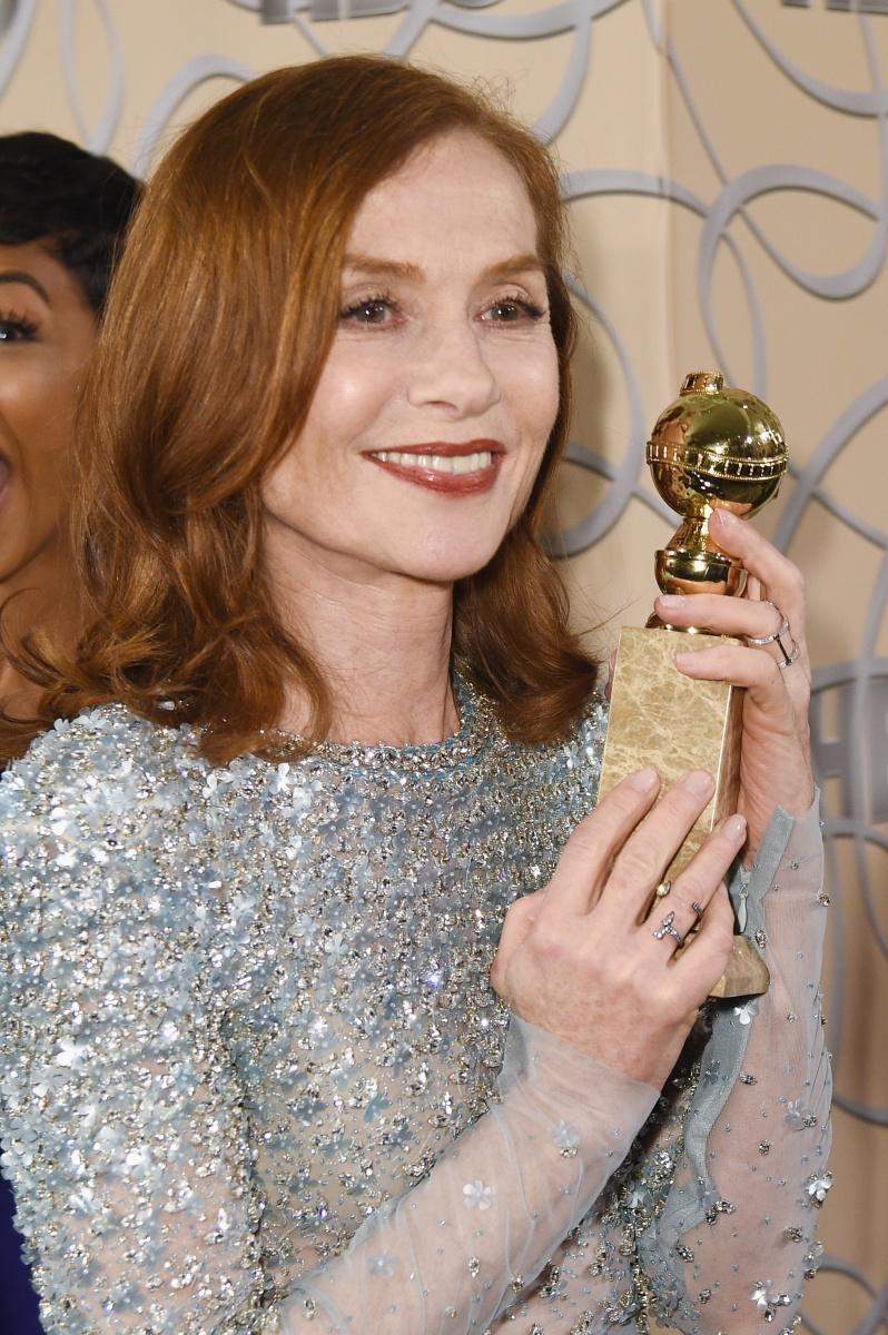 Isabelle Huppert was a surprise winner. Photo: Getty