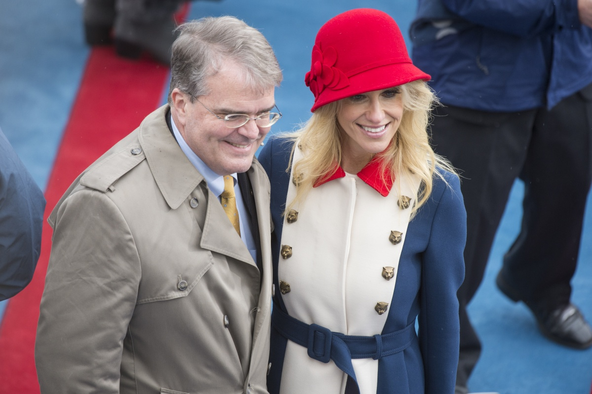 Kellyanne Conway (with Congressman John Culberson) was inspired by London. Photo: Getty