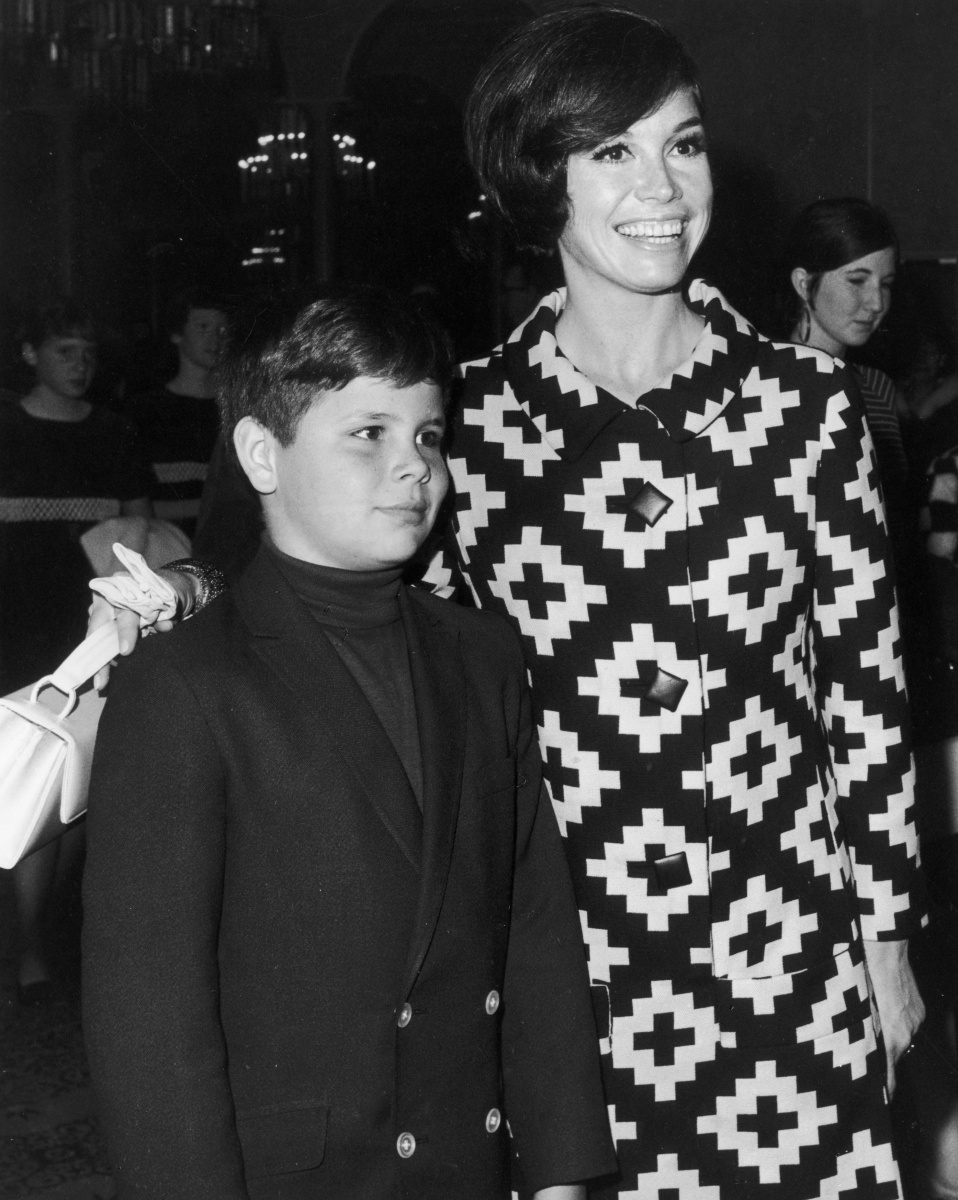Mary Tyler Moore and her son, Richard,