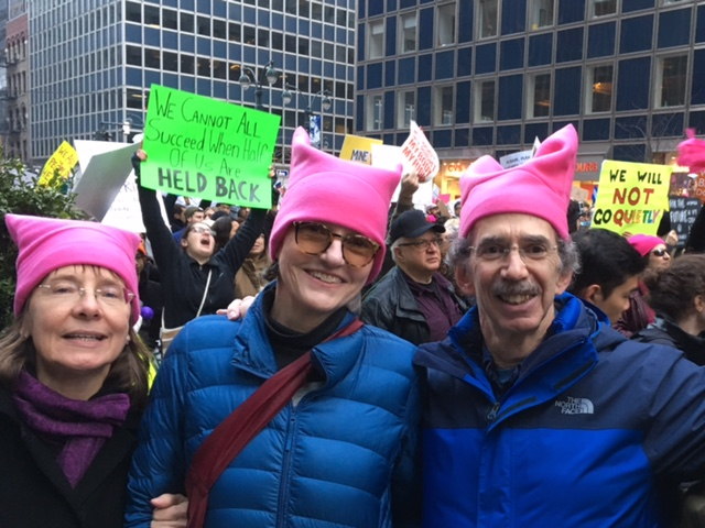 Author James Kunen with fellow marchers in New York City.