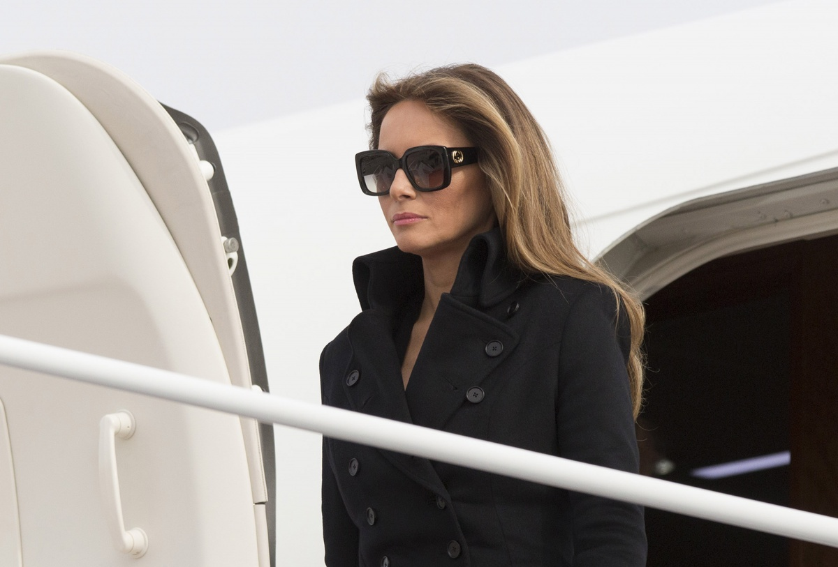 Melania was criticsed for failing to remove her sunglasses during the wreath-laying ceremony. Photo: Getty