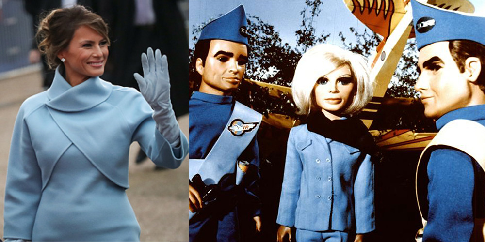 Melania Trump channelled the Thunderbirds puppets. Photo: Getty