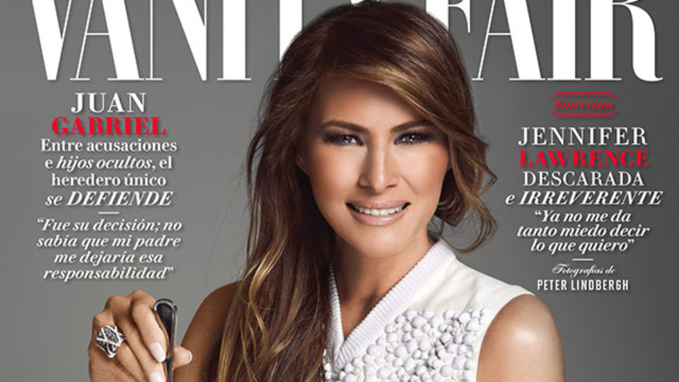 Melania Trump eats diamond necklaces on the cover of Vanity Fair Mexico