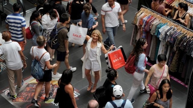 : Melbourne identity and Rogue Traders frontwoman Natalie Bassingthwaighte who spearheaded a Christmas trading campaign.