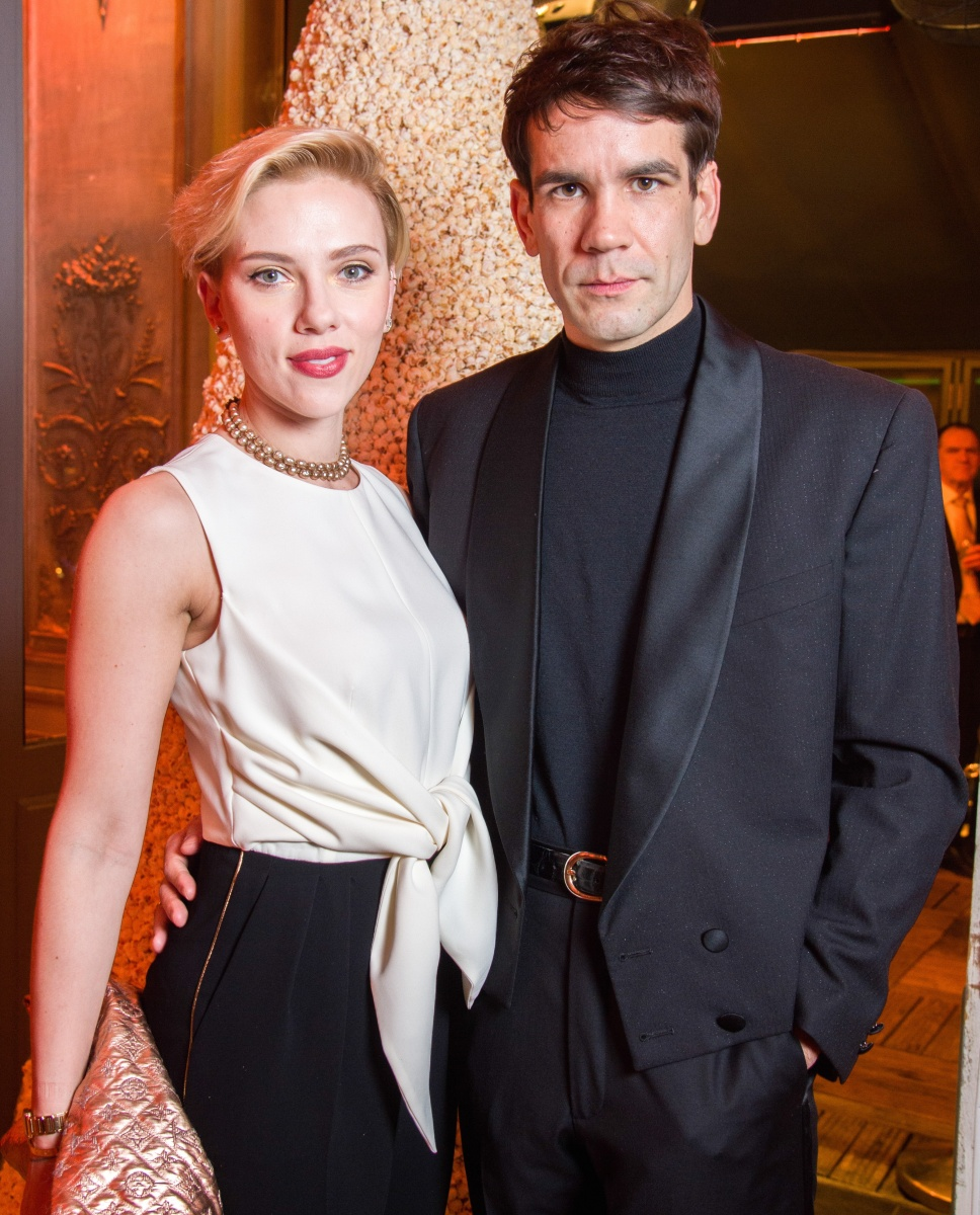 Johansson and Dauriac at the launch of their popcorn store late last year. Photo: Getty