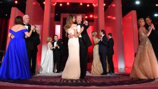 Team Trump enjoy a dance at the first inaugural Freedom Ball.