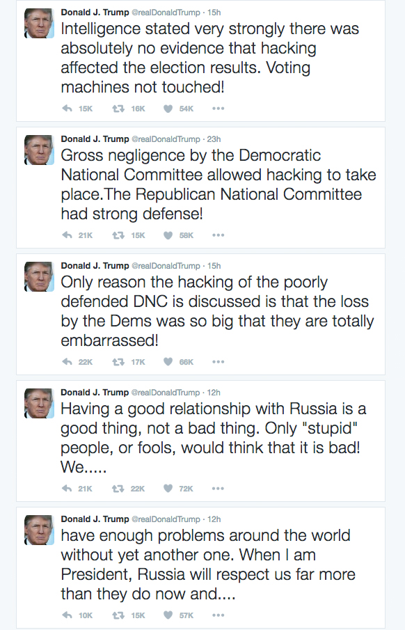 trump tweets russia