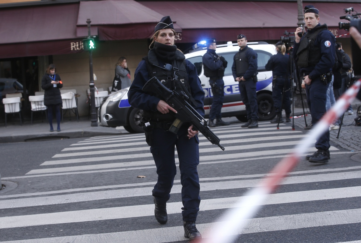 French police have cordoned off the area. Photo: AAP