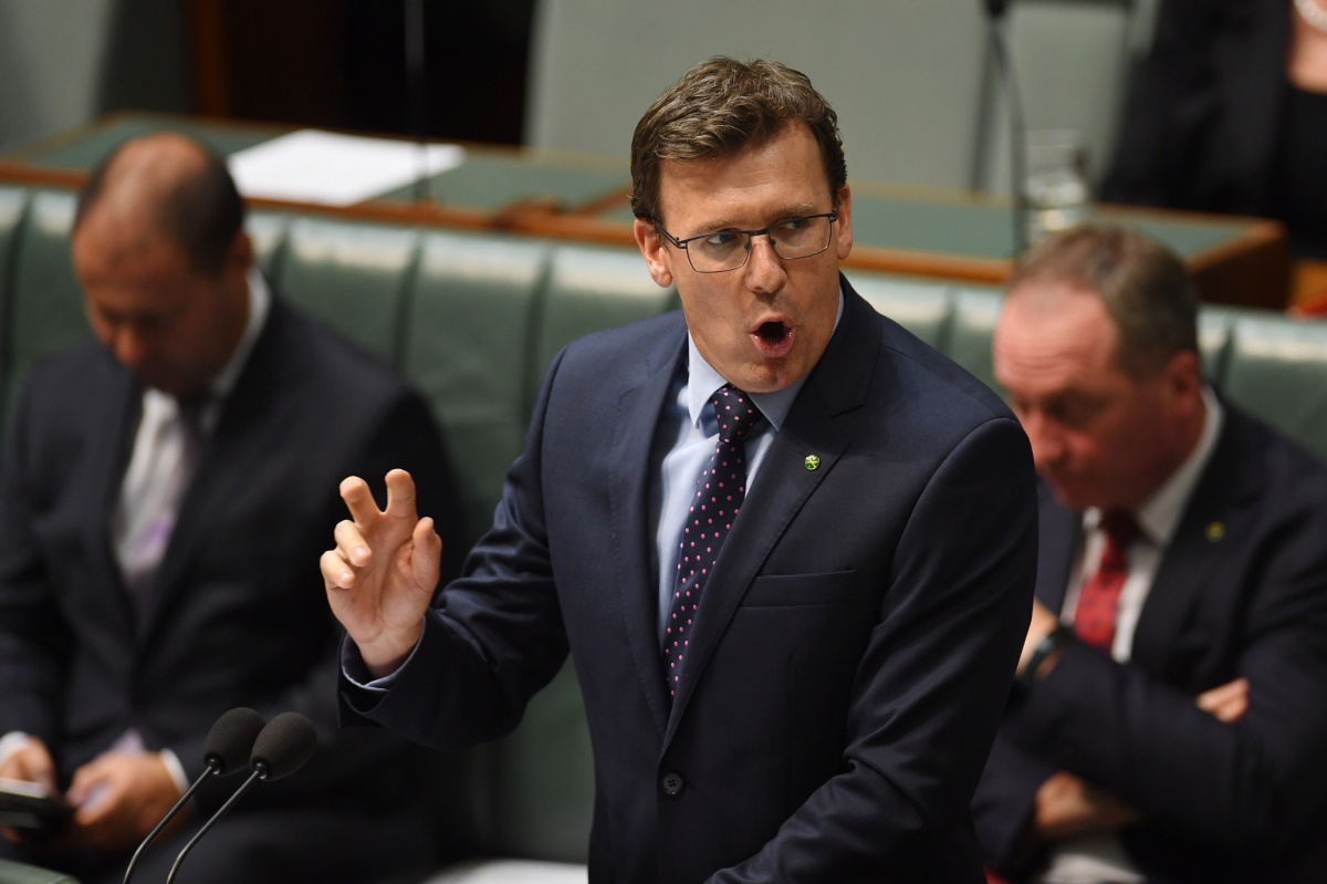 Human Services Minister Alan Tudge found himself at the centre of a sustained attack. Photo: AAP
