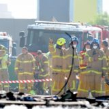 firefighters DFO blaze plane crash