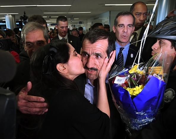 Ali Vayeghan arrives after travel ban reversed