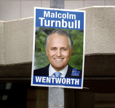 Turnbull election poster