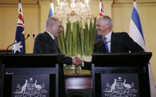 Benjamin Netanyahu and Malcolm Turnbull