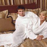 Donald Trump in a bathrobe