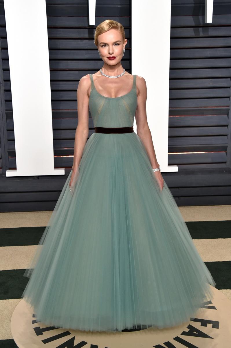 Kate Bosworth looks like a princess in sea green.
