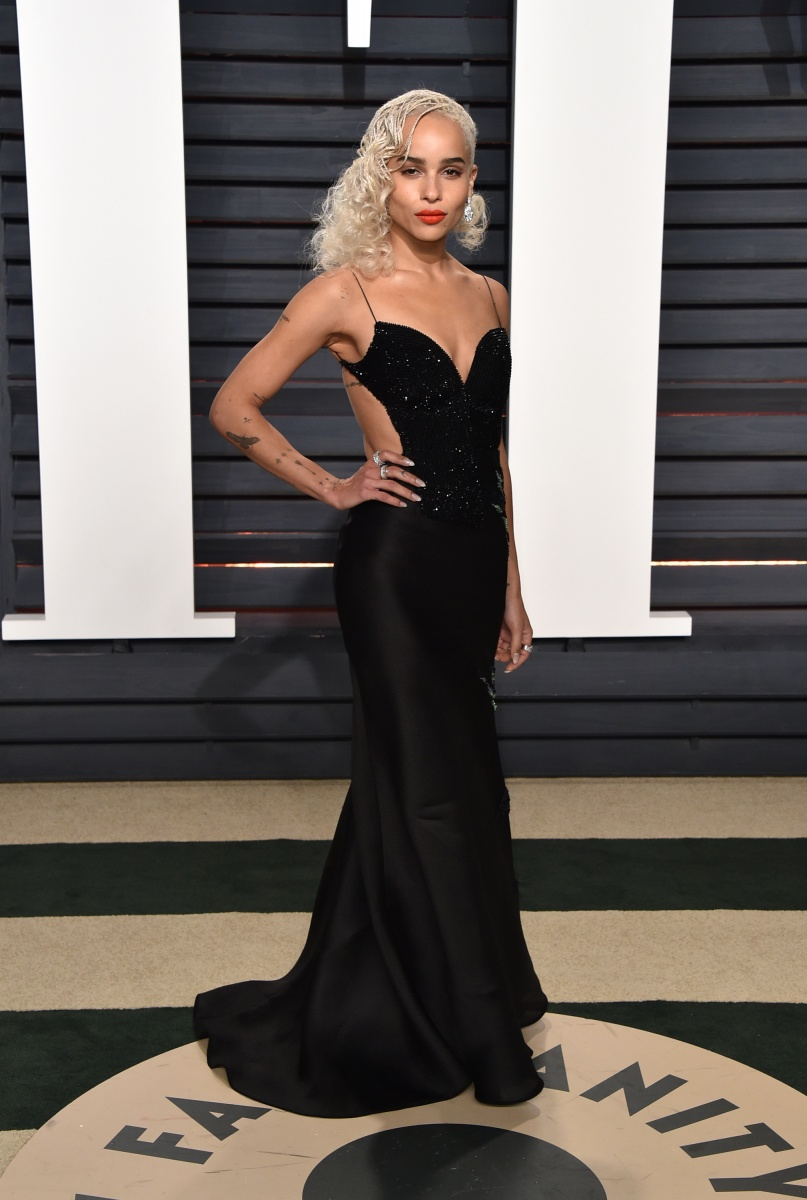 Zoe Kravitz channelled old Hollywood with a modern edge.