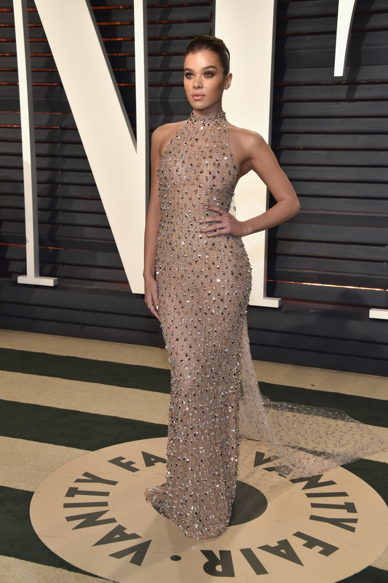 Hailee Steinfeld changed out of her pastel ceremony gown into a number subdued neutral number.