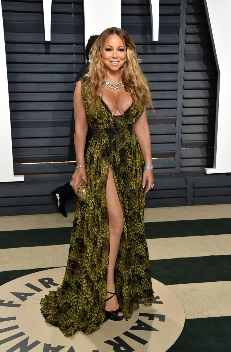 Mariah Carey proved there is such a thing as too much skin.